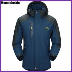 Mountainskin 5XL Men s Jackets Waterproof Spring Hooded Coats Men Women  Outerwear Army Solid Casual Brand Male 768ef7bc6dd