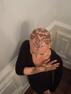 Henna Crown, Chemo, Breast Cancer - Twinkle Henna Cary, NC