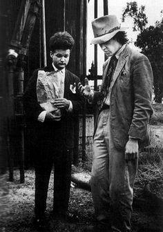 Jack Nance and David Lynch on set ofEraserhead.