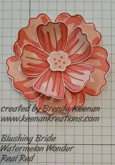 Colour combination for Bunch of Blossoms Stampin Up from Brenda Keenan