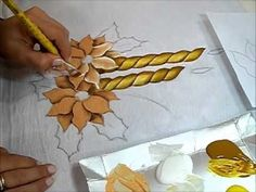 Pintura em tecido - Vela e Flor de Natal - How to paint Christmas (+play...