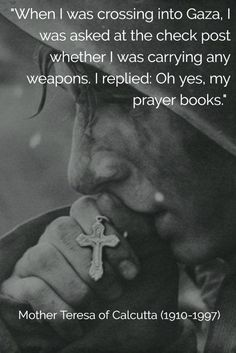 Prayer books are powerful weapons.