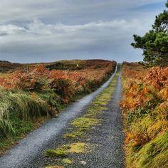 Wild Atlantic Way - My biking path today. I had moments of rain, wind, & sun – typical day in #Ireland w @All_Connemara