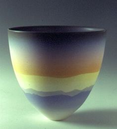 Ceramics by Peter Lane at Studiopottery.co.uk - Mountain Sky - Evening, 18cms high, porcelain.
