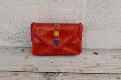 Genuine Goat Leather Coin purse / Card case / by SaharartDouz