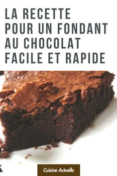 Recette pour un fondant au chocolat facile et rapide - Ideas (i will organize this once school is over) - # Easy Smoothie Recipes, Healthy Dessert Recipes, Cake Recipes, Snack Recipes, Chocolate Fondant, Chocolate Desserts, Fall Desserts, Ice Cream Recipes, Food Cakes