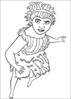 Croods Coloring pages for kids. Printable. Online Coloring. 9