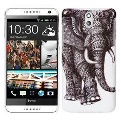 kwmobile® Hard case Elephant design for HTC Desire 610 in Black White