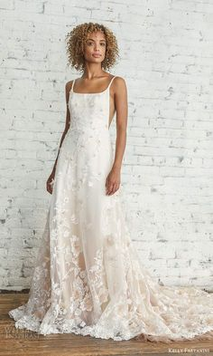 kelly faetanini 2021 bridal sleeveless straps square neckline side cutouts fully embellished ombre skirt a line ball gown wedding dress chapel (1) mv -- Kelly Faetanini 2021 Wedding Dresses | Wedding Inspirasi #wedding #weddings #bridal #weddingdress #weddingdresses #bride #fashion #collection:Willow #label:KellyFaetanini #week:422020 #year:2021 ~ Wedding Poses, Wedding Themes, Wedding Ideas, Dream Wedding Dresses, Gown Wedding, Ombre Gown, Pink Sky, Romantic Weddings, Bridal Collection