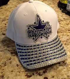 Hey, I found this really awesome Etsy listing at https://www.etsy.com/listing/200564317/dallas-cowboys-white-bling-cap