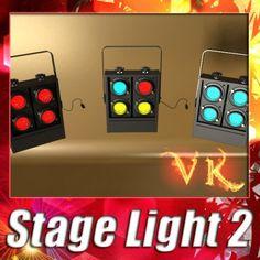 3D Model Moving Head LED Stage Light 02 c4d, obj, 3ds, fbx