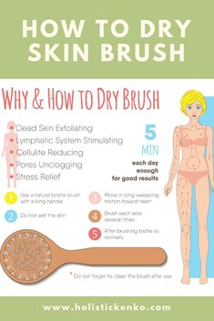 Dry Skin Brushing Instruction Guide & Skin Health Benefits is part of fitness - Dry brushing your skin affects your lymphatic system and benefits your health It detoxifies your skin and aids in the removal of stretch marks & cellulite Health And Beauty, Health And Wellness, Health Tips, Health Benefits, Lettering For Beginners, Dry Brushing Skin, Dry Skin, Benefits Of Dry Brushing, Dry Brushing For Cellulite