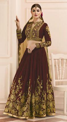 Price @5775.00 INR  Colour : Wine  Top : Art Silk  Lehenga : Art Silk With Santoon Inner  Dupatta : Soft Net  Work : Heavy Embroidery