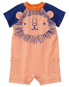 Baby Sunset Stripe Lion One-Piece by Gymboree