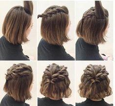 Mèches twistées : jolie coiffure cheveux courts