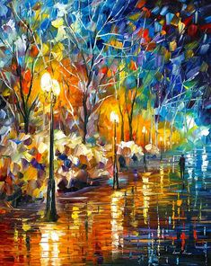 0486  The Warm Light Of The Winter Print by Leonid Afremov