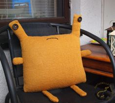 Monster pillow Burlap, Reusable Tote Bags, Pillows, Hessian Fabric, Throw Pillow, Cushions, Cushion, Scatter Cushions, Jute