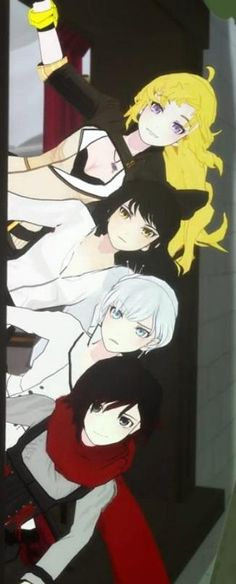 "RWBY: Image Gallery | Know Your Meme ... I like how Ruby and Yang are like ""Hi! Fancy seeing you there!"" and Blake and Weiss are like ""WTF? What are you doing? Why are you THERE? and How did you manage to get there??"""