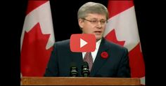 Prime Minister Stephen Harper of Canada speaks about their support of Israel.   So glad to know that they are proud to support Israel.  Yeah Canada!!!