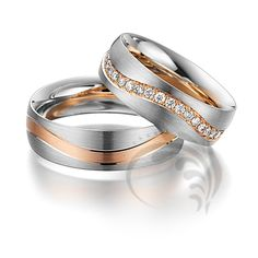 14k white and yellow Gold Couple Wedding Rings  0.48 carats 4 mm