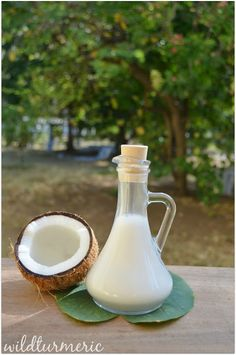 Coconut milk: One of the best ingredients to use in our lives daily for health, skin & hair care. Coconut milk can be used to prepare endless variety of hair and skin care products, I have given all my favorite recipes, hope you will find it useful. Also learn the side effects of using tinned coconut milk.....
