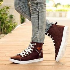 Zip-Accent Canvas Sneakers from #YesStyle <3 MARTUCCI YesStyle.com