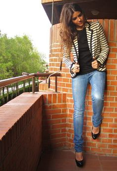 striped blazer.
