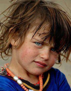 Berber little girl from Atlas mountains of Morocco.