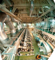 Engine room of Container Ship