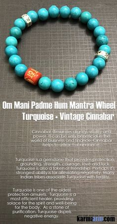 Turquoise is a gemstone that provides #protection, grounding, #strength, #courage, love and luck and a token of #friendship. Perhaps it's strongest ability is for alleviating negativity. Many #Indian tribes associate #Turquoise with #fertility.      #Love #Beaded #Bracelet #Yoga #Chakra #Mala #Stretch #Meditation #handmade #Jewelry #Energy #Healing #gratitude #gifts #Crystals #Stacks #pulseiras #Bijoux #Handmade #Reiki #Mala #Buddhist #Charm #Mens #Womens #Her #Him….#