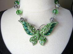 Statement Necklace Wedding Necklace by JenniferJonesJewelry, $135.00