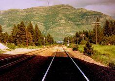 Teakettle Mountain, Columbia Falls, Mt. Tracks lead to Anaconda Aluminum Company (1970s or early 1980s)