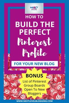 Pinterest Tips For Bloggers   New Blogger Tips   Social Media Marketing For Bloggers - Learn how to build your ultimate Pinterest profile for your blog. Establish authority, grab target audience attention, get more Pinterest followers, and more email conv