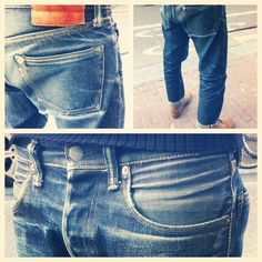 Momotaro Raw Denim, Men's Denim, Denim Style, Momotaro Jeans, Edwin Jeans, Nudie Jeans, Sharp Dressed Man, Denim Fashion, Blue Jeans