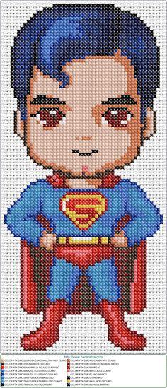 superman baby EN PUNTO DE CRUZ Más