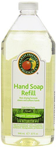 Earth Friendly Products Hand Soap Refill Lemongrass 32 Ounce ** Check out the image by visiting the link.
