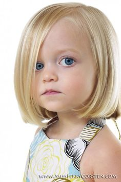 Perfect hair cut for Alayna! Her hair wants to naturally part that way anyway :-p