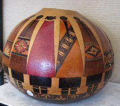 Gourd with Native American Women Design by Elizabeth R. Rose