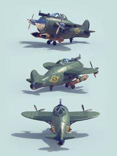 ArtStation - Bombers Flock, Tomislav Zvonaric