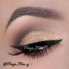 Shimmer gold eyeshadow  - @maya_mia_y