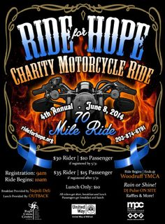 Ride For Hope motorcycle Ride June 8th!