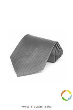 Mercury Silver Herringbone Silk Necktie