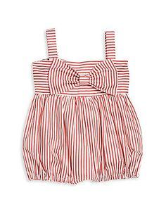 Isabel Garreton Baby's Big Bow Striped Romper