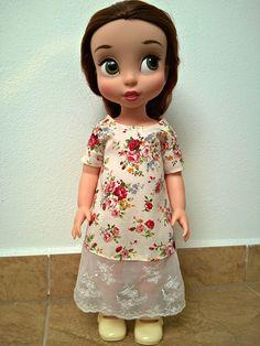 Květované šatičky V  Disney animator doll Belle