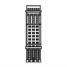 Work in progress. Anyone know this building? #illustration #icon #iconaday #icons #building #architecture #linework #lineillustration by andrewwdesigns