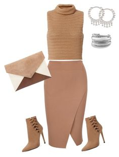 """""""Send nudes"""" by styledbydaniellejoy on Polyvore featuring Exclusive for Intermix, ALDO, Stone Paris and David Yurman"""