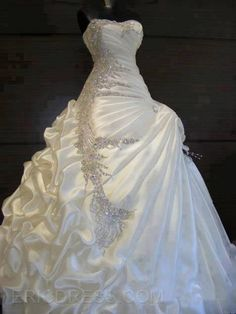 Ericdress Exquisite Ball Gown Beading Wedding Dress 1
