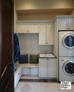 "Exceptional ""laundry room stackable washer and dryer"" information is readily available on our internet site. Check it out and you wont be sorry you di… – Laundry Room Mudroom Laundry Room, Laundry Room Organization, Laundry Storage, Laundry Room Design, Closet Storage, Storage Shelves, Storage Room, Laundry Dryer, Small Laundry"