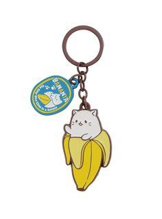 243564ae8 An a-peeling keychain // Bananya Charm Key Chain Weird Jewelry, I Got