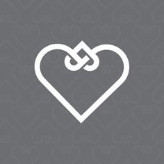 """A lovely symbol to represent adoption by Ben Stafford: ""The knotted hearts represent the life of a child being woven into a new family."" This would make a great tattoo."